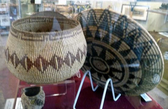 A few local Indian baskets at Aptos History Museum