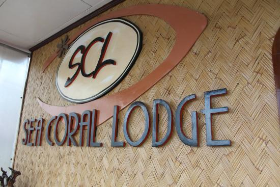 Sea Coral Lodge: SCL signage