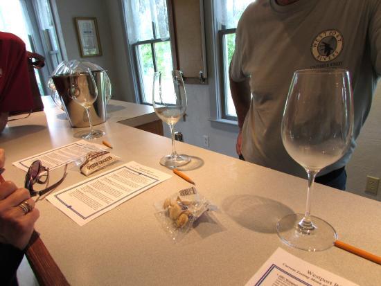 Westport Rivers Vineyard & Winery: well-organized wine-tasting