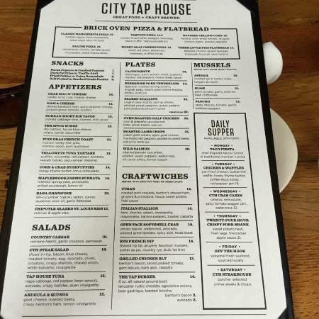Superior City Tap House Penn Quarter: Menu