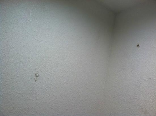 Red Roof Inn Victorville: Filth On Walls And Peeling Paint