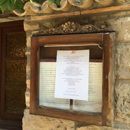 Castellfollit del Boix, Spain: Carta y Menu