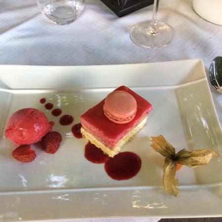 Les Tourrettes, Francia: Dessert faisant partie du menu
