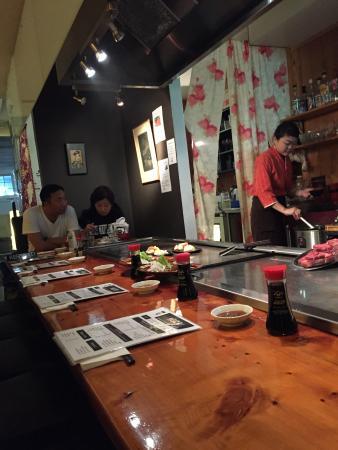 Teppanyaki table picture of heizo teppanyaki restaurant for Table restaurant dc