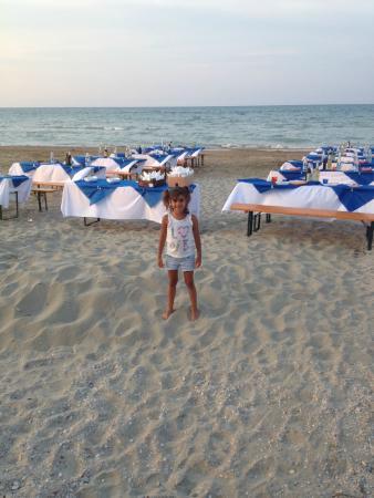 Hotel Miramare : cena spiaggia