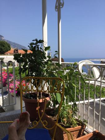 Hotel Villa delle Palme : Från terassen som hörde till rummet