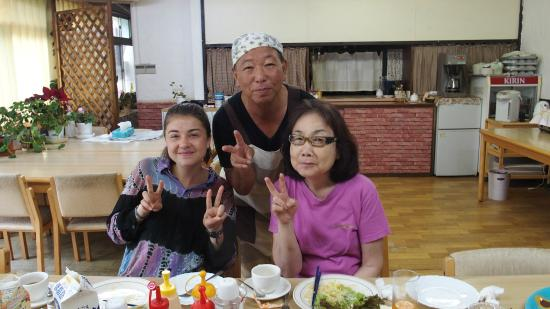 Tokushima Youth Hostel: Breakfast prepared by Mr Keiji Kinouchi - a very funny and wonderful person