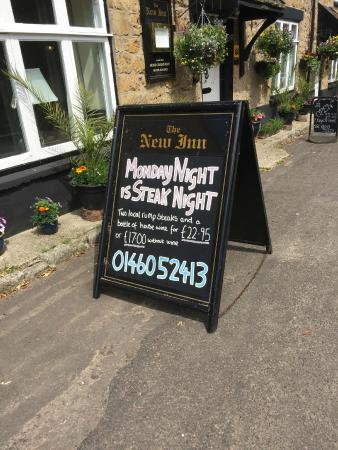 New Inn: The inviting sign