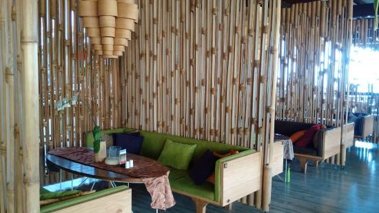 bamboo interior at burangrang cafe dusun bambu bandung
