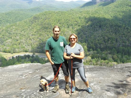 Nebo, NC: on top of John's Rock