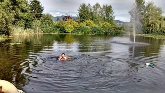 Spa Eastman: Étang d'eau de source pour se baigner