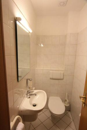 Landhotel Alte Fliegerschule: The toilet with washbasin