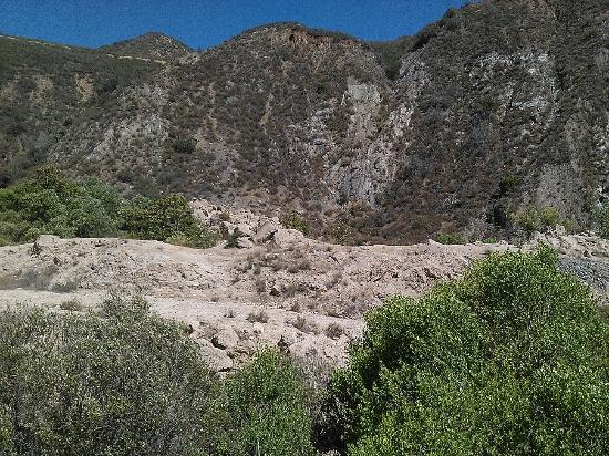 St. Francis Dam-Ruins of Collapsed Dam: St. Francis Dam Ruins 7-11-2015