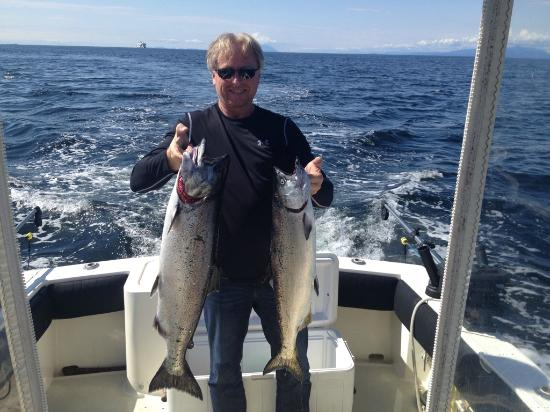 Bites On Salmon Charters: Dave actually can catch a fish !!  LOL
