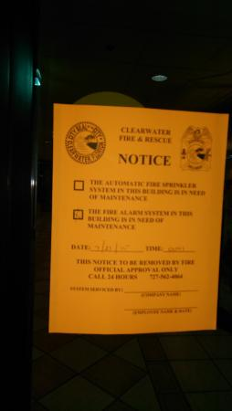 Holiday Inn Hotel & Suites Clearwater Beach: Violations Permit
