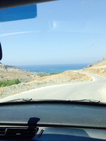 Micro Amoudi : Дорога на основной пляж