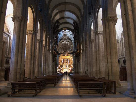 Cathedral of santiago de compostela statue of st james - Interior santiago de compostela ...