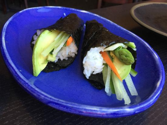 Sushi on the Rock: Vegetable cones