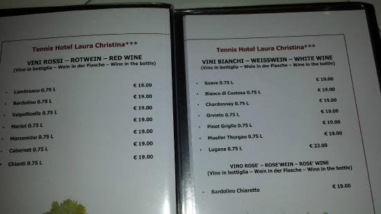 Hotel Laura Christina: Getränke Wein schmeckt nach Tafelwein