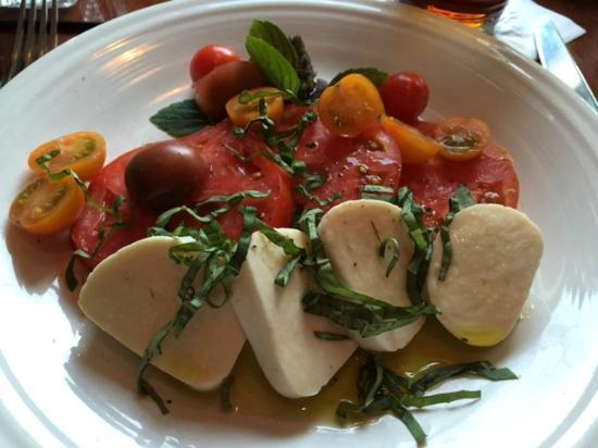 The Press Room : Caprese salad - with homemade mozzarella
