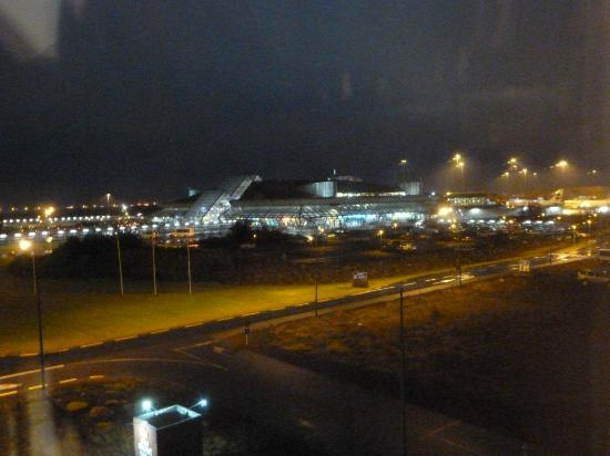 View of the Keflavic International Airport at night