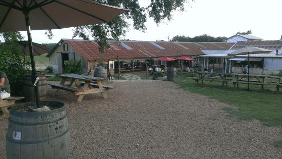 Stanleys Farmhouse Pizza View From Jester King Brewery