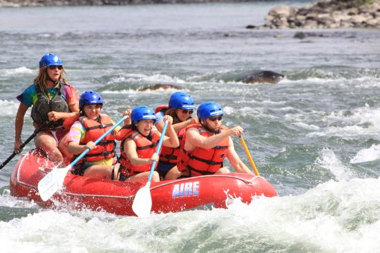 Montana Whitewater Rafting and Zipline on the Yellowstone River