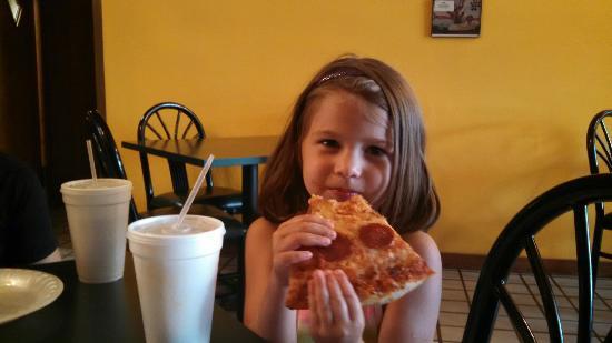 Two Cousins Pizza: Pulled pork slaw sub.. Yummy!