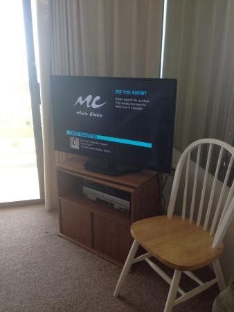 Century 1 Condominium: New flat screen TV in living room.
