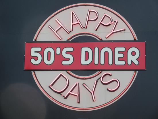 Happy Days 50's Diner: Their sign