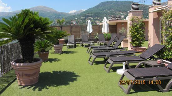 hotel Diana : Très belle vue sur la ville et lieu de détente.
