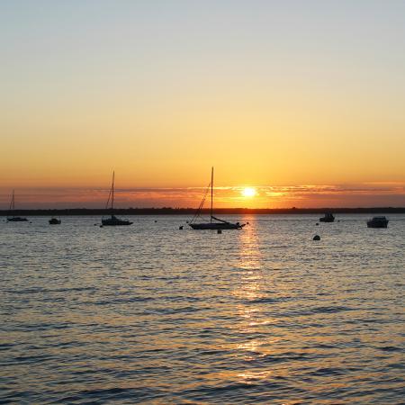 Le Brise Lames : coucher de soleil vu du resto