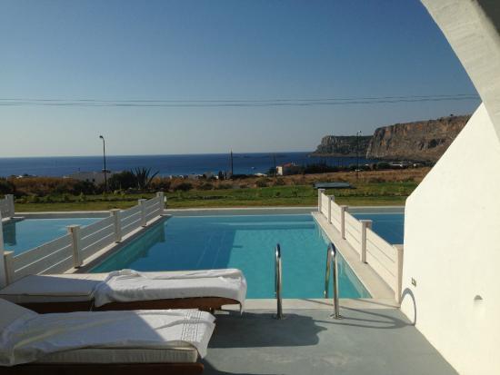 Terrazza & piscina privata - Picture of Lindos Sun Hotel, Lindos ...