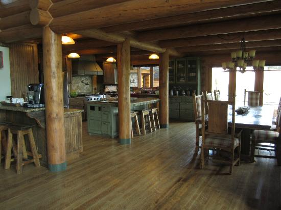 Bitterroot River Ranch: Kitchen and Dining Area. (dining outside also available)