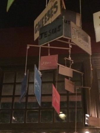 Soho Wine & Martini Bar: Mobile hanging in the bar