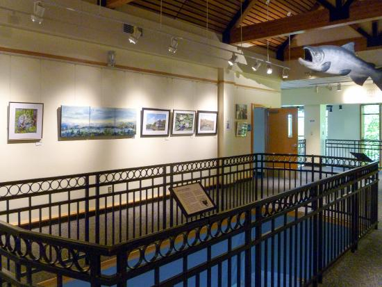 Water Resources Education Center: upstairs art