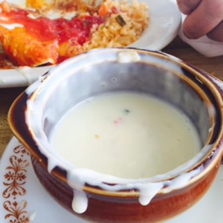 Margarita's Mexican Restaurant: This is what's left of the awesome queso blanco cheese served with chip