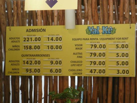Yal-ku Lagoon: Admission prices as of July 2015
