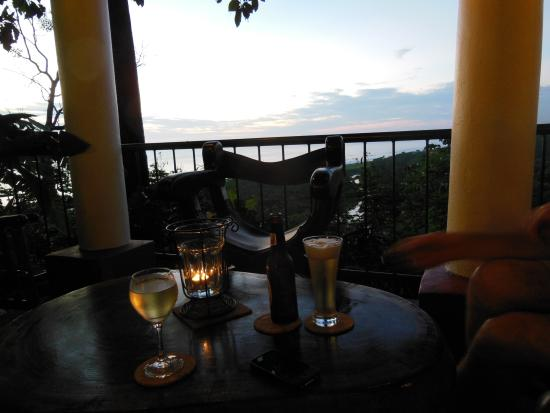 Hotel Lagarta Lodge: On the terrace before an amazing dinner