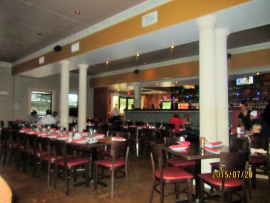 This is inside the Greektown Grille.