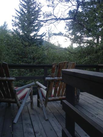 """Glacier Lodge: View from """"The Loft"""""""