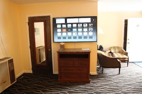 Willows Motel: big tv