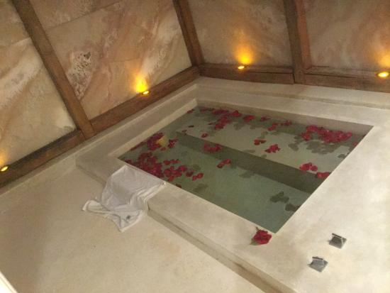 Filled bathtub with rose petals - Picture of Blue Diamond Luxury ...