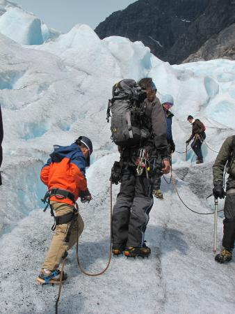 Ice Troll Glacier Hiking & Kayaking Day Tours: the guide carried a lot.