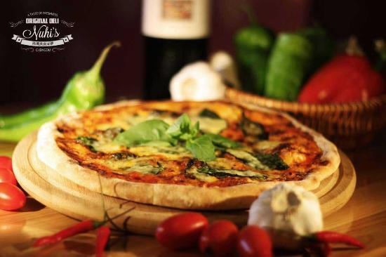Nuhi's Original Deli: Our Margherita pizza