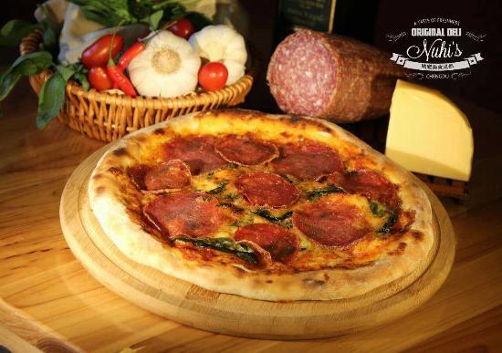 Nuhi's Original Deli: Our Salami pizza