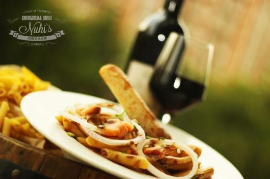Nuhi's Original Deli: Salmon Pasta
