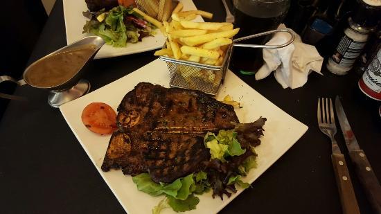 Route 66 Diner: T-bone steak was delicious