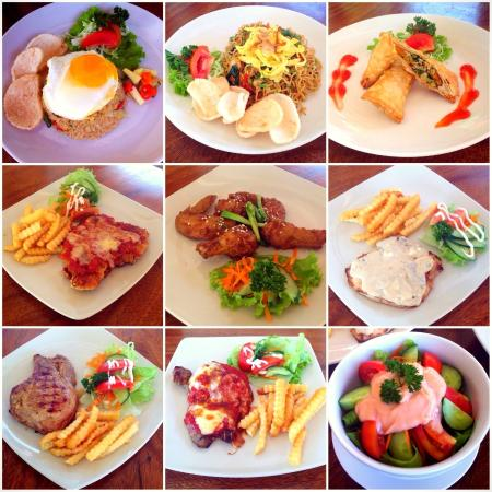 Choice of Indonesian and western food at Lili Mama Warung