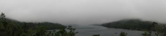 Lake Danao National Park: misty Lake Danao